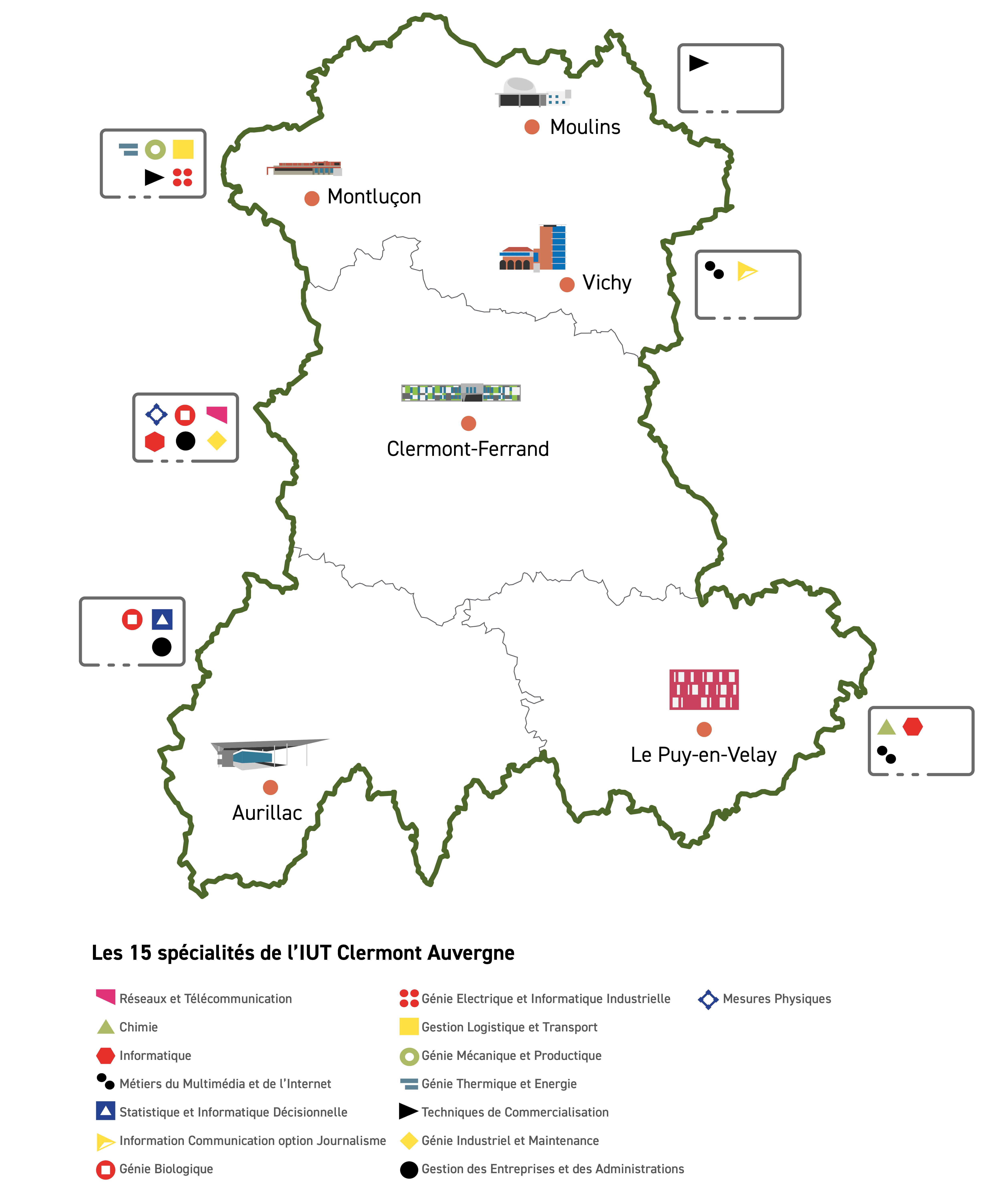 Carte Auvergne IUT